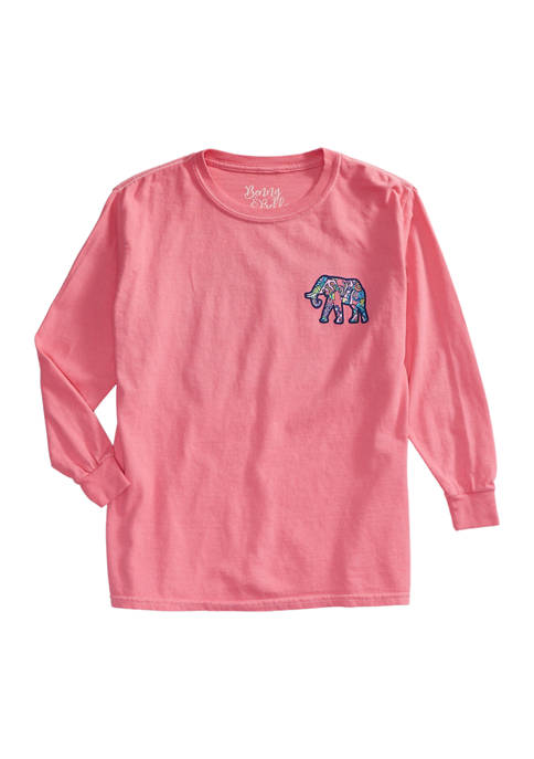 Benny & Belle Girls 7-16 Long Sleeve Graphic