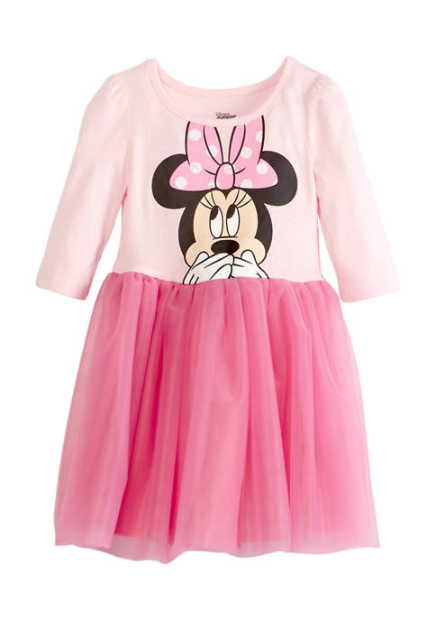 Disney® Minnie Girls 4-6x Long Sleeve Dress with