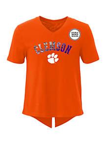 Gen2 Clemson Tigers Show Love Short Sleeve V Neck T Shirt