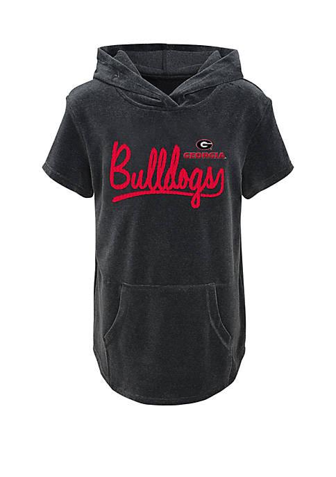 Gen2 Girls 7-16 Georgia Bulldogs Velour Hoodie