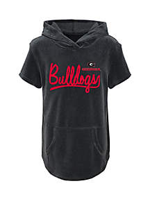 Girls 7-16 Georgia Bulldogs Velour Hoodie