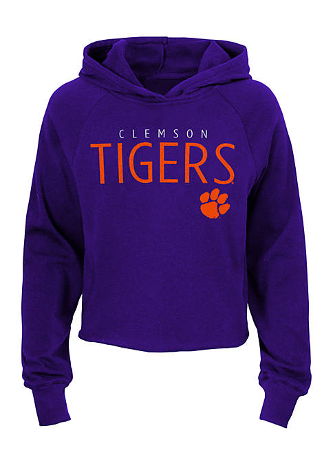 Gen2 Girls 7-16 Clemson Tigers Iced Out Hoodie
