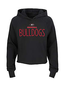 Girls 7-16 Georgia Bulldogs Long Sleeve Sherpa Hoodie