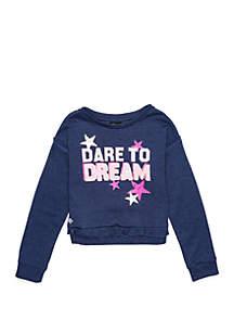 Girls 7-16 Ruffle Hem Sweatshirt
