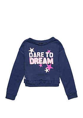 c28e7e832dd46 ZELOS Girls 7-16 Ruffle Hem Sweatshirt ...