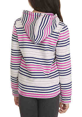 d67de332bb3d8 ... ZELOS Girls 7-16 Multi Stripe Tie Front Hoodie