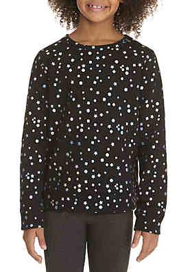 566509536ac00 ZELOS Girls 7-16 Foil Dot Sweatshirt ...