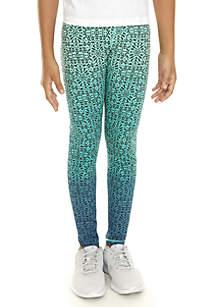Girls 7-16 Ombre Foil Print Leggings