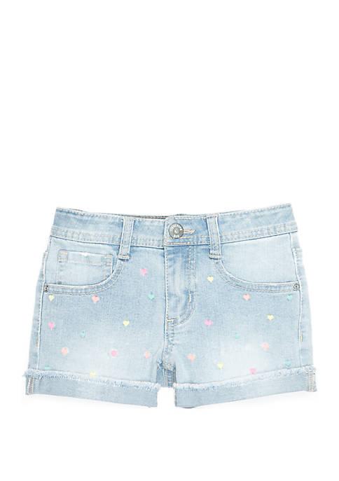 Lightning Bug Girls 4-8 Multi Color Denim Shorts