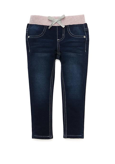 Lightning Bug Girls 4-8 Pull On Denim Pants