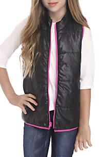 Girls 7-16 Zip Up Vest