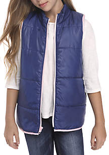ZELOS Girls 7-16 Zip Up Vest