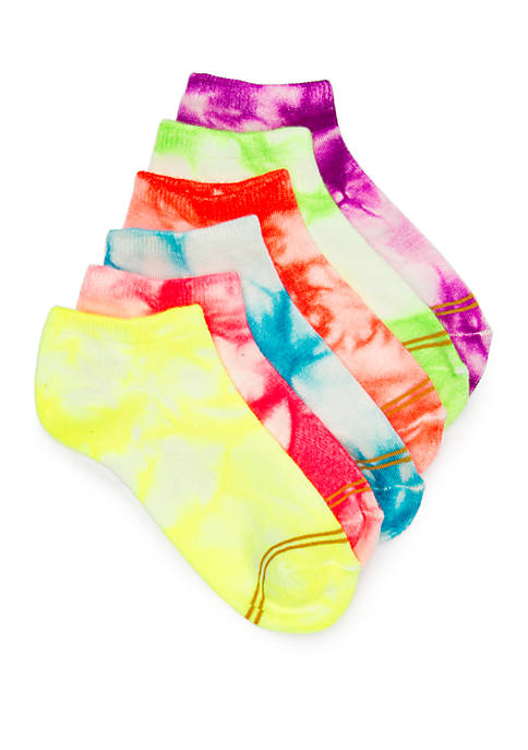 Gold Toe® Girls 4-16 Tie Dye No Show