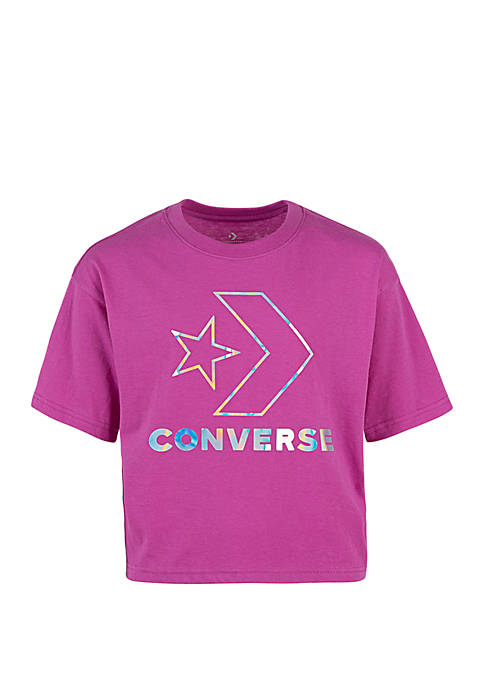 Converse Girls 7-16 Star Chevron Boxy Short Sleeve