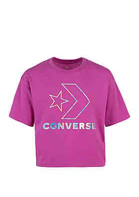 a720443c6 Converse Girls 7-16 Star Chevron Boxy Short Sleeve Tee ...