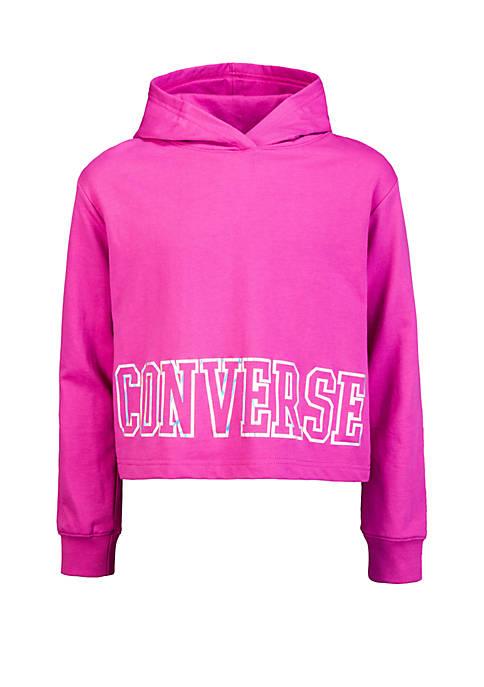 Converse Girls 7-16 Cropped Hoodie