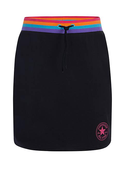 Girls 7-16 Yarn Dye Rounded Hem Skirt
