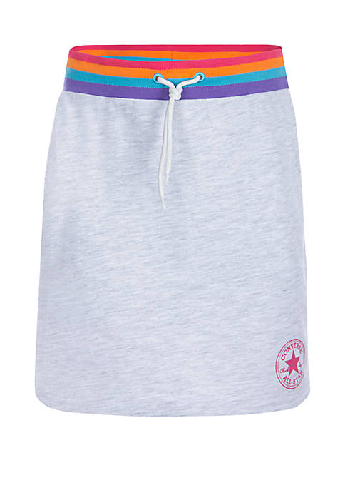Converse Girls 7-16 Yarn Dye Rounded Hem Skirt