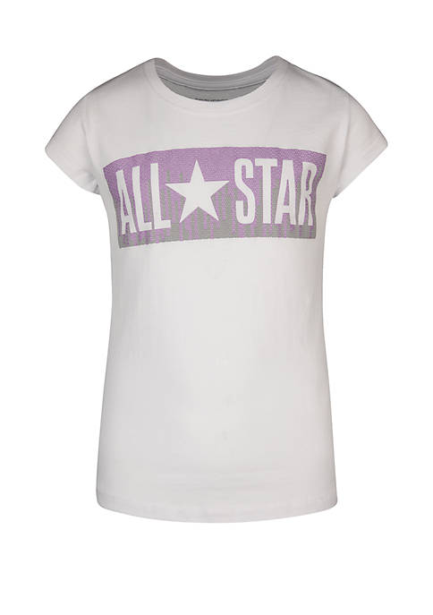 Converse Girls 7-16 Sequin All Star Short Sleeve