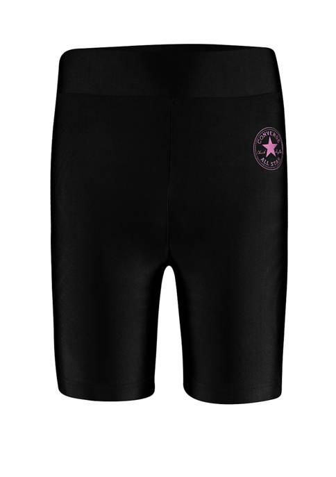 Converse Girls 7-16 Allstar Multi Color Bike Shorts