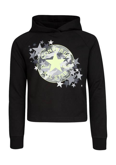 Girls 7-16 Raglan Sleeve Camo Star Hoodie