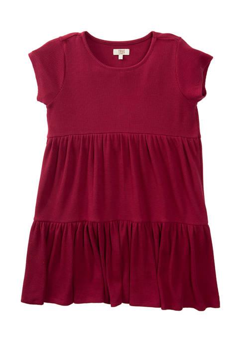 TRUE CRAFT Girls 7-16 Short Sleeve Thermal Dress