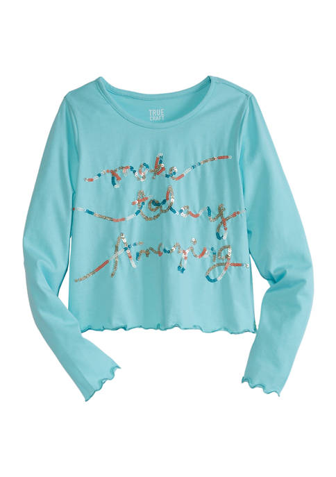 Girls 7-16 Long Sleeve Graphic T-Shirt