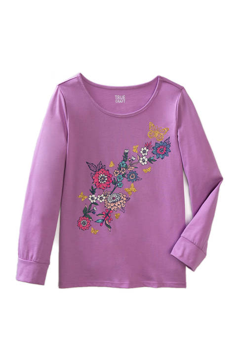 Girls 7-16 Long Sleeve Graphic T-Shirt