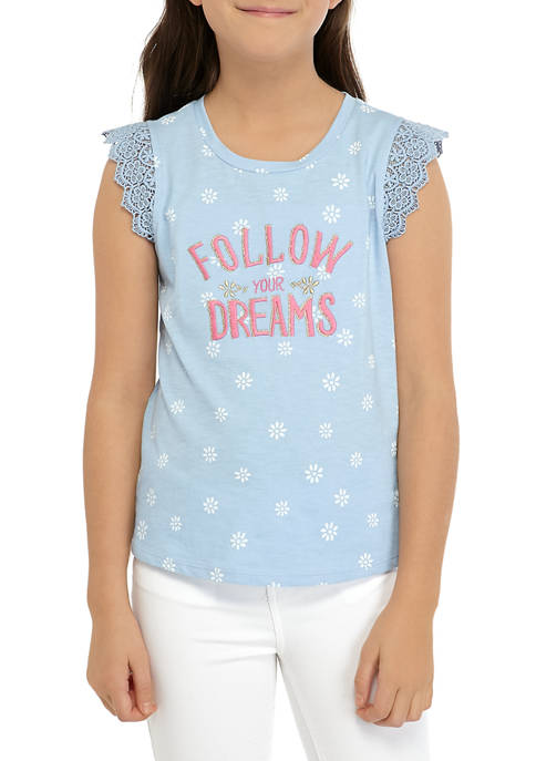 Girls 7-16 Lace Graphic T-Shirt