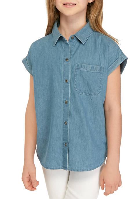 Girls 7-16 Button Down Shirt