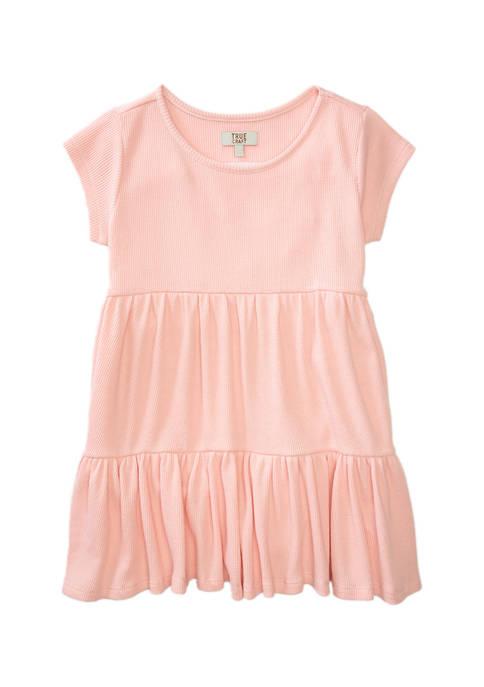 Girls 4-6x Short Sleeve Thermal Dress