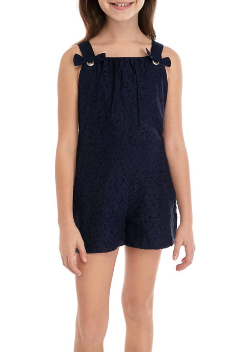Crown & Ivy™ Girls 7-16 Lace Romper