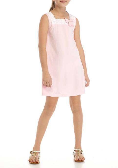 Crown & Ivy™ Girls 7-16 Lace Ponte Dress
