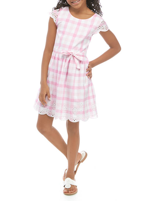Crown & Ivy™ Girls 7-16 Schiffly Dress