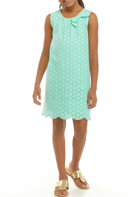 Crown & Ivy™ Girls 7-16 A Line Eyelet