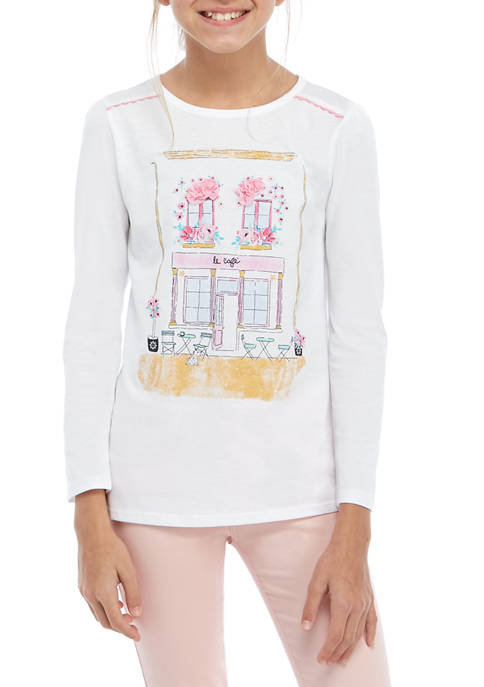 Crown & Ivy™ Girls 7-16 Long Sleeve Ric