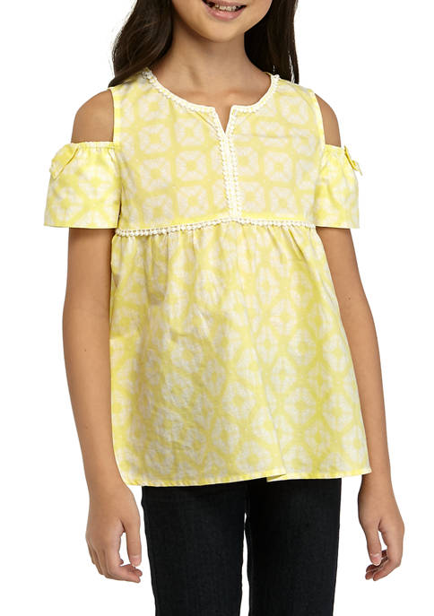 Crown & Ivy™ Girls 7-16 Short Sleeve Pom
