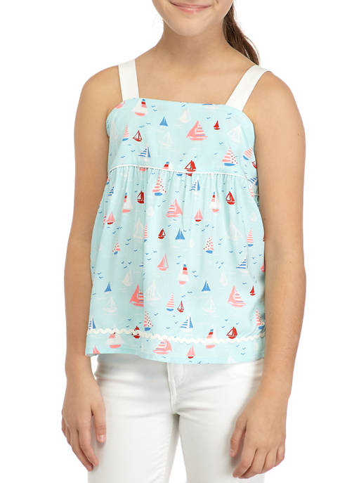 Crown & Ivy™ Girls 7-16 Ric Rac Tank