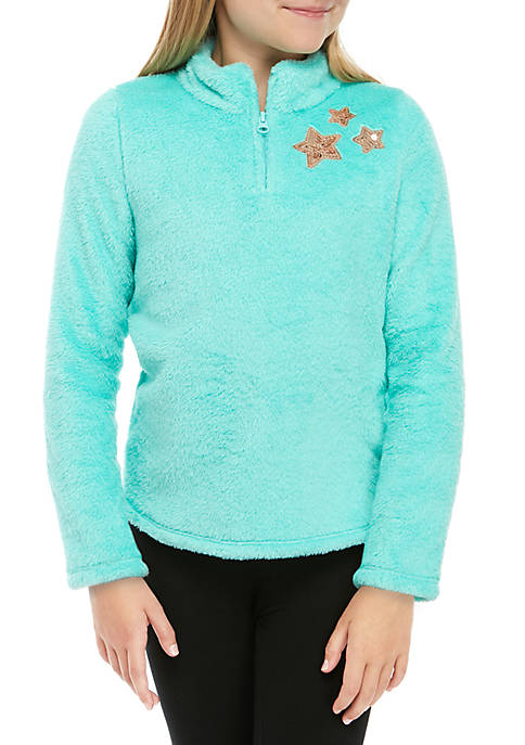ZELOS Girls 7-16 Plus Half Zip Pullover