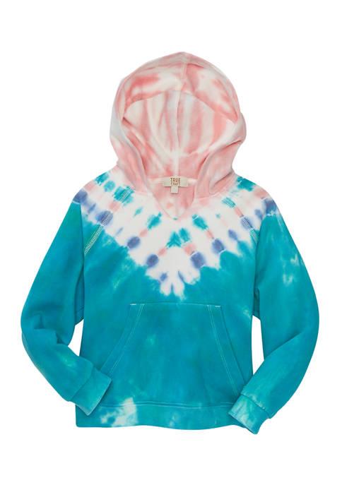 Girls 7-16 Tie Dye Fleece Hoodie