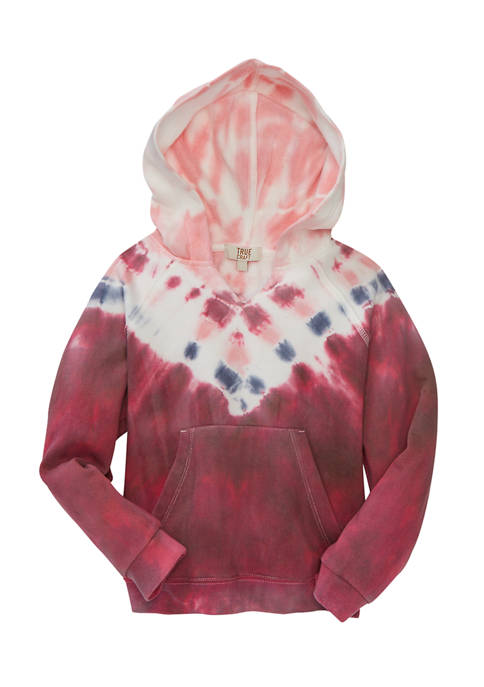 TRUE CRAFT Girls 7-16 Tie Dye Fleece Hoodie