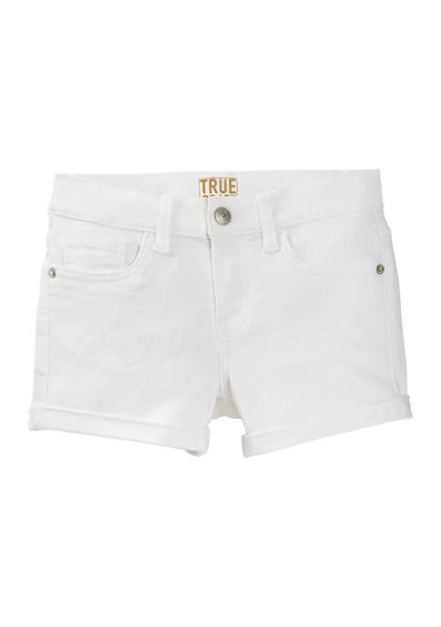 Girls 7-16 Colored Denim Shorts