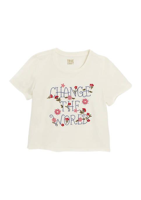 Girls 7-16 Short Sleeve Graphic T-Shirt