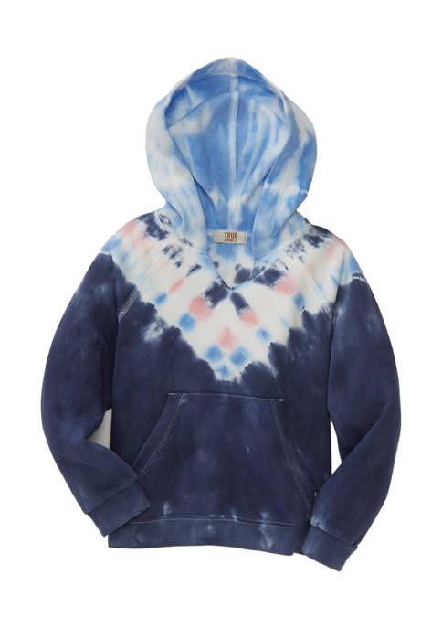 Girls 4-6x Tie Dye Fleece Hoodie