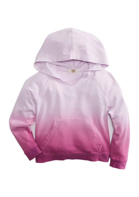 TRUE CRAFT Girls 4-6x Long Sleeve Dip Dye