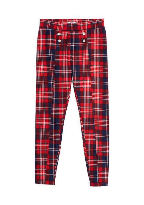 Crown & Ivy™ Girls 7-16 Plaid Ponte Pants
