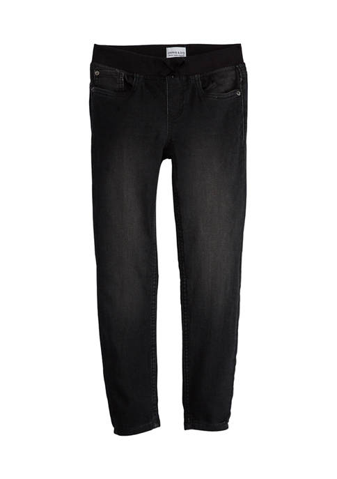 Crown & Ivy™ Girls 7-16 Ribbed Waist Jeggings