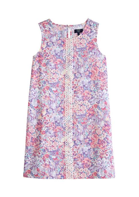Crown & Ivy™ Girls 7-16 Printed A-Line Dress