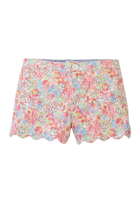 Crown & Ivy™ Girls 7-16 Printed Twill Shorts