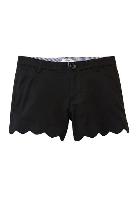 Crown & Ivy™ Girls 7-16 Solid Twill Shorts